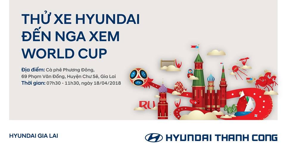 lái thử xe Hyundai đến Nga xem World Cup