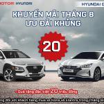 Khuyến mãi tháng 8, ưu đãi đặc biệt dành cho Hyundai Kona và ELantra